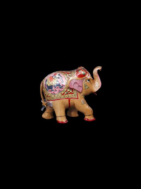 Wooden Elephant Painting -10 CM