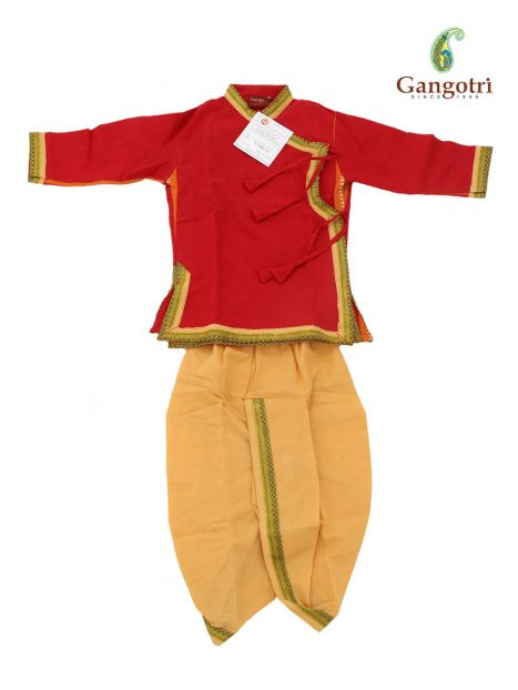 Dhoti Bagal Bandi '0-1 Year'-Red