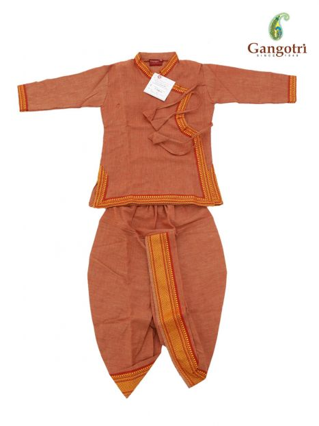 Dhoti Bagal Bandi '1-2 Year'-Orange