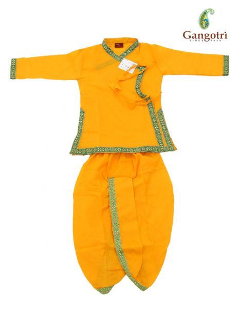 Dhoti Bagal Bandi '3-4 Year'-Yellow