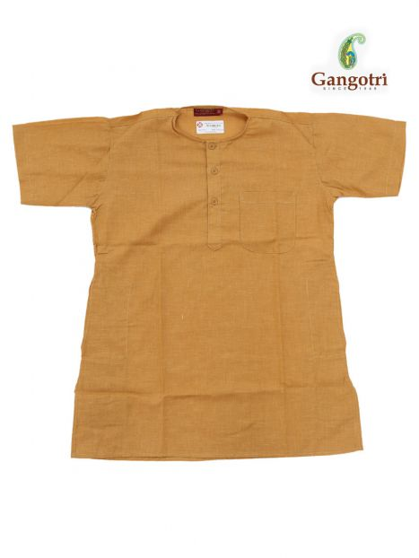 Kurta Boy '6-7 Years'-Golden