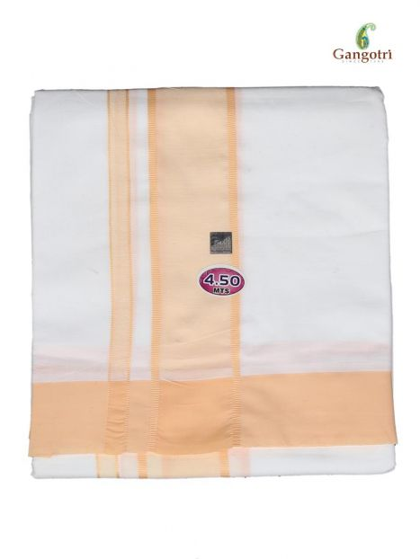 Dhoti Cotton-Saffron