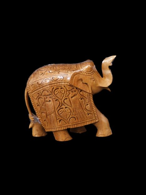 Wooden Elephant Carving -12 CM