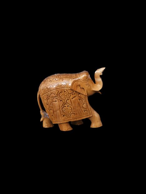 Wooden Elephant Carving -10 CM