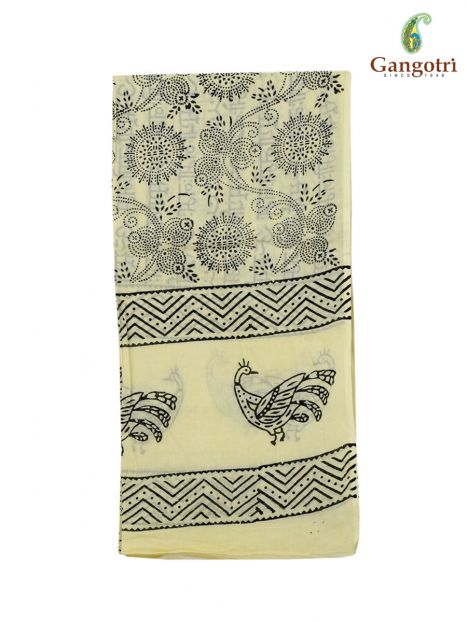 Harinam Chadar Block Print Cotton