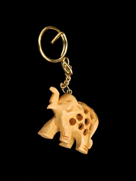 Key Ring Wooden Elephant