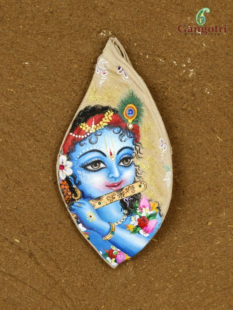 Bead Bag Hand Painted 'Lord Krishna'