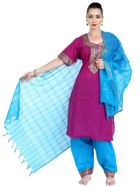 Punjabi Suit South Cotton Double Extra Large Size