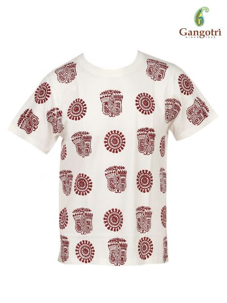 T-Shirt Hand Block Print 'Size - Small'