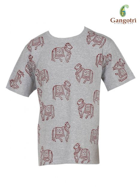T-Shirt Hand Block Print 'Size - Large'