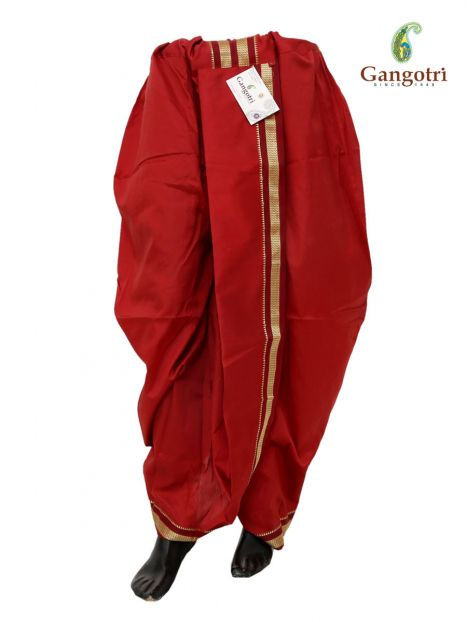 Readymade Dhoti Large Size-Mehroon