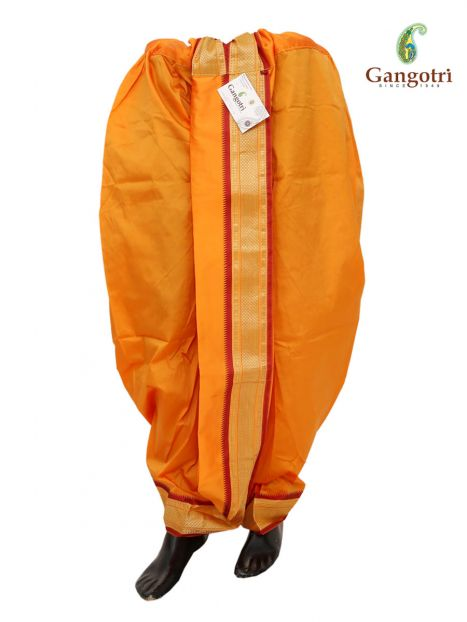 Readymade Dhoti Large Size-Yellow
