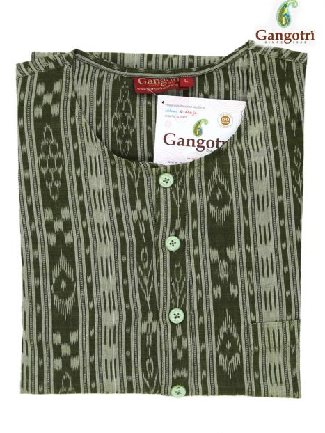 Kurta Cotton  'L' Short Sleeves-Drak Gray-Large Short Sleeves