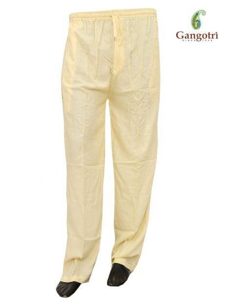 Trouser Rayon Large Size-Cream