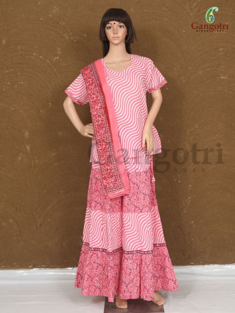 Skirt Top And Dupatta Set Large Size