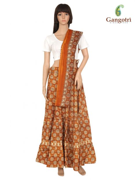 Skirt And Dupatta Set Large Size