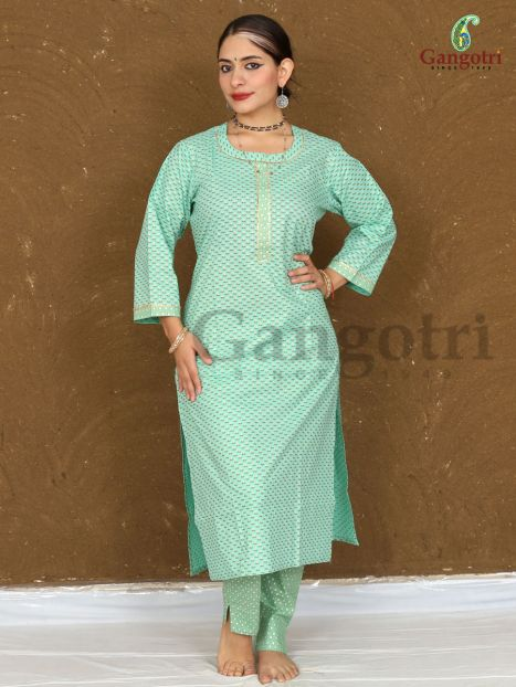 Kurti & Plazzo Set Cotton 'Size Large'