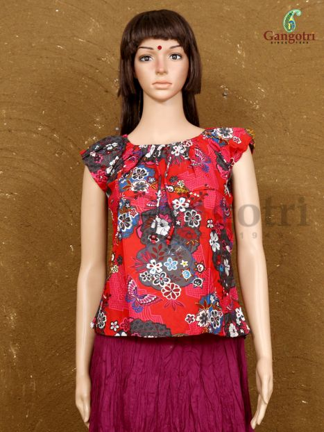 Top Cotton Printed 'Large Size'