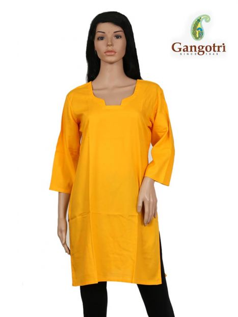 Top Plain Rayon 'Medium Size'-Yellow