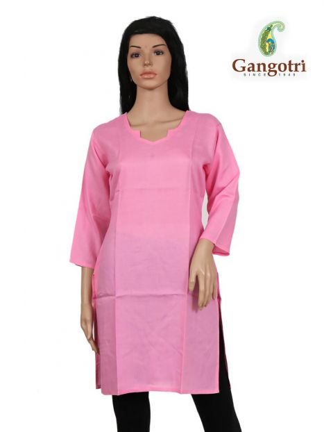 Top Plain Rayon 'Medium Size'-Pink