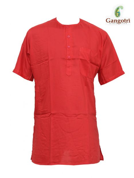 Kurta Coloured Jute 'M Short Sleeves'