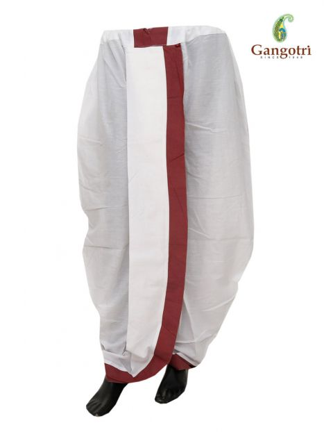 Readymade Dhoti Medium Size-Mehroon