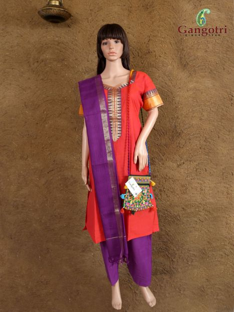Punjabi Suit South Cotton 'Size - Medium'