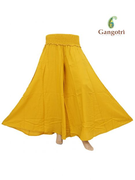 Trouser Mishell Rayon  -Yellow-S/M
