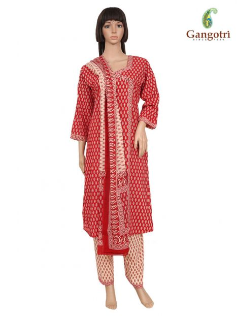 Punjabi Suit Cotton Print 'Size - Medium'