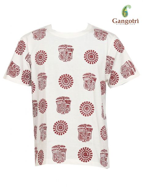 T-Shirt Hand Block Print 'Size - Medium'