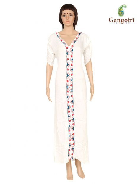 Long Dress Rayon Embroidery