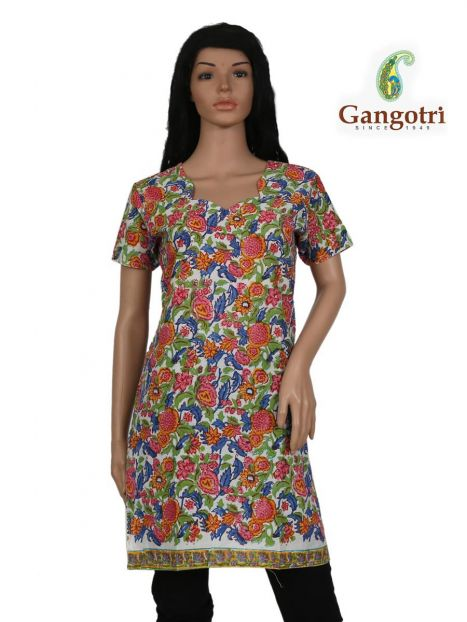 Top Cotton Printed 'Small Size'-Orange