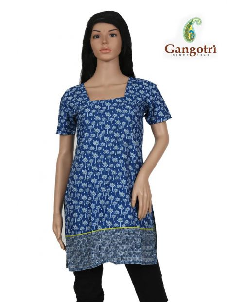 Top Cotton Printed 'Small Size'-Royal Blue