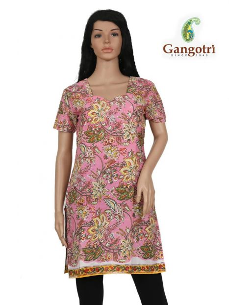 Top Cotton Printed 'Small Size'-Pink