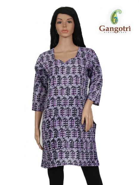 Top Cotton Printed 'Small Size'-Purple