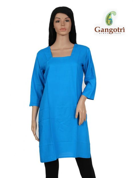 Top Plain Rayon 'Small Size'-Blue