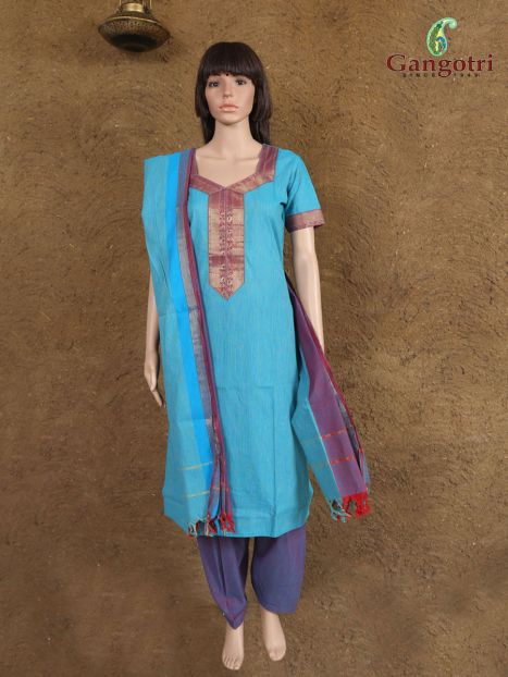 Punjabi Suit South Cotton 'Size-Small'