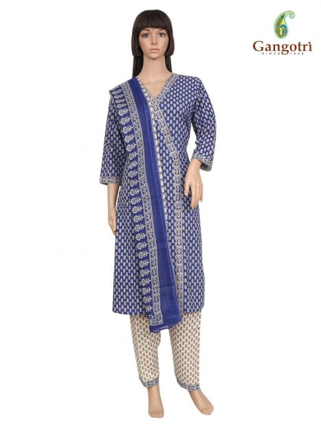Punjabi Suit Cotton Print 'Size - Small'