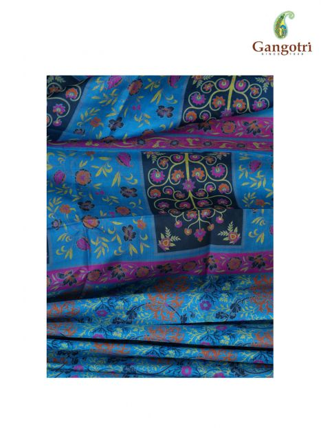 Saree Printed Kashmiri Silk