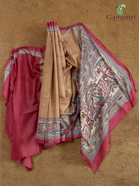 Saree Handmade Raw Silk