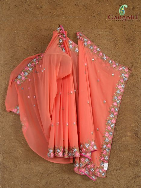 Saree Georgette Thread Embroidery