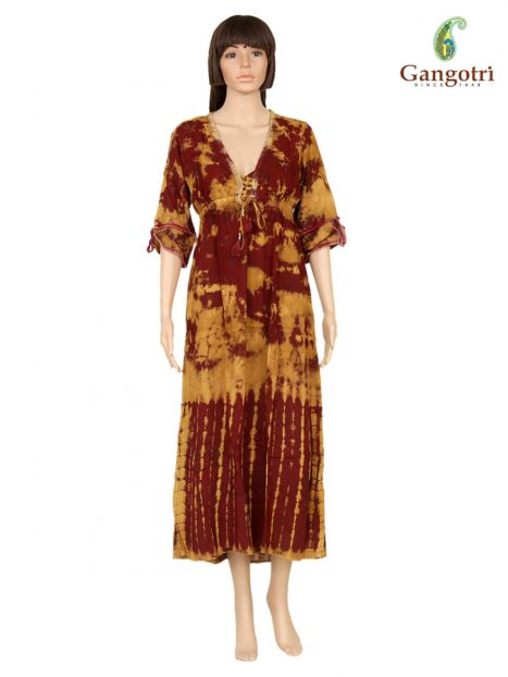 Long Dress Tye Dye Rayon
