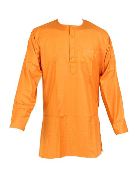Kurta Super Jute Saffron-Large Long Sleeves