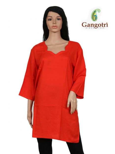 Top Plain Rayon 'Extra Large Size'-Red