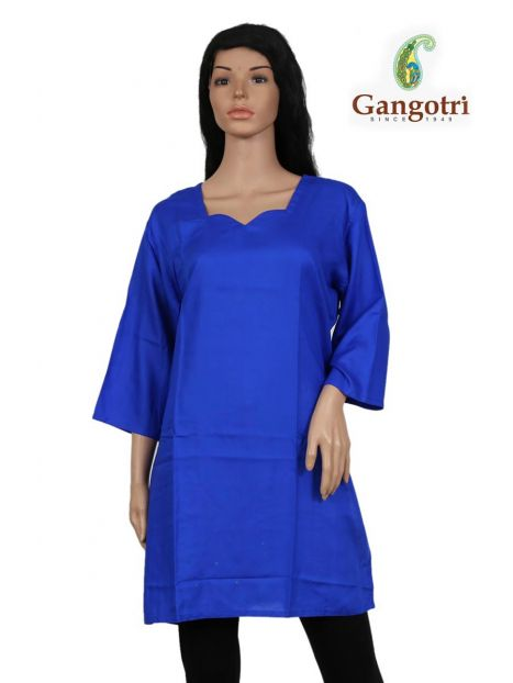 Top Plain Rayon 'Extra Large Size'-Royal Blue