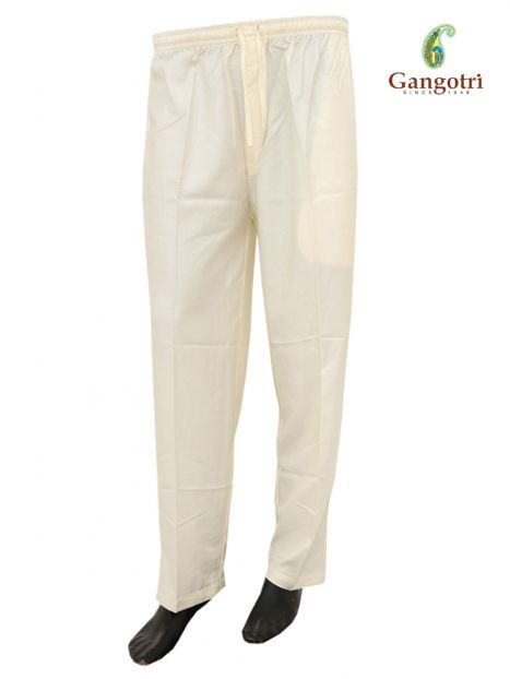 Trouser Rayon Extra Large Size-Cream