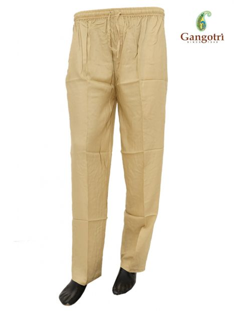 Trouser Rayon Extra Large Size-Golden
