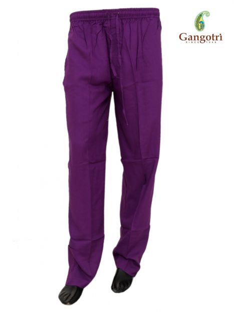 Trouser Rayon Extra Large Size-Purple