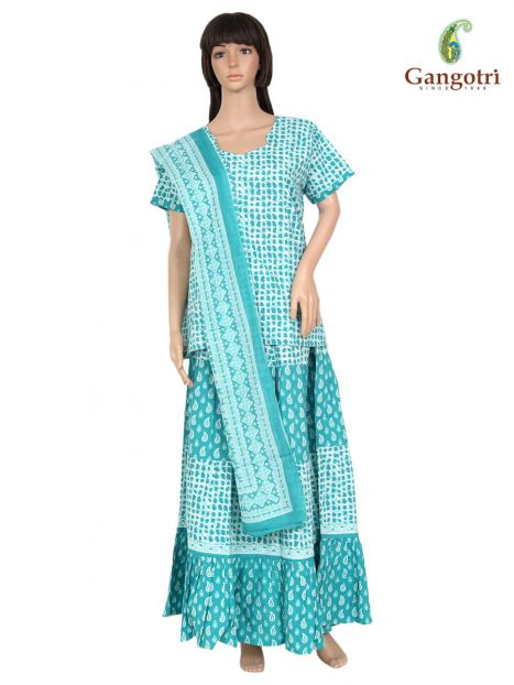 Skirt Top And Dupatta Set Extra Large Size