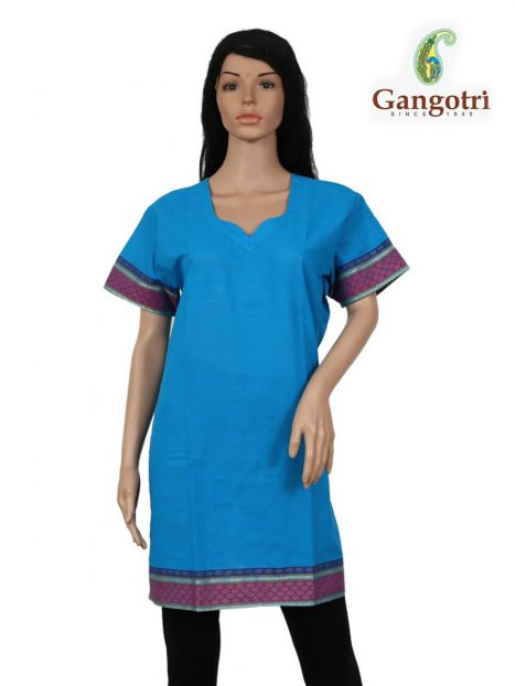 Top South Cotton 'Double Extra Large Size'-Blue